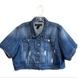 Ashley Stewart Cropped Jean Jacket Size 1X
